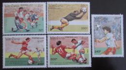Poštovní známky Laos 1991 MS ve fotbale Mi# 1261-65