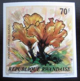 Poštovní známka Rwanda 1980 Houby neperf. Mi# 1057 B Kat 24€
