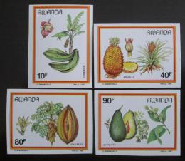 Poštovní známky Rwanda 1980 Ovoce neperf. Mi# 1370-73 B