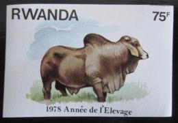 Poštovní známka Rwanda 1978 Býk neperf. Mi# 969 B Kat 6.90€
