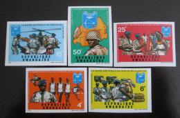 Poštovní známky Rwanda 1978 Národní garda neperf. Mi# 474-78 B Kat 15€