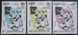 Poštovní známky Kambodža 1990 Mezinárodní rok gramotnosti Mi# 1155-57