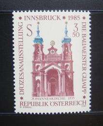 Poštovní známka Rakousko 1985 Kostel, Innsbruck Mi# 1815