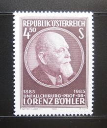 Poštovní známka Rakousko 1985 Lorenz Bohler, chirurg Mi# 1800