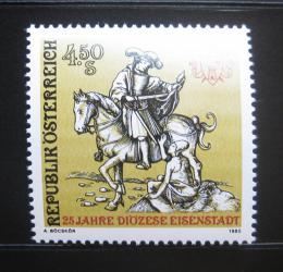 Poštovní známka Rakousko 1985 Svatý Martin na koni Mi# 1830