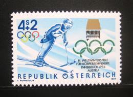 Poštovní známka Rakousko 1984 Zimní hry pro tìlesnì postižené Mi# 1765