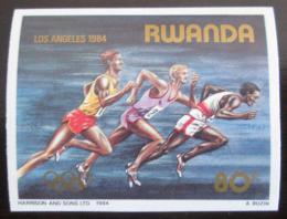 Poštovní známka Rwanda 1984 LOH Los Angeles Mi# 1281 B Kat 6.50€