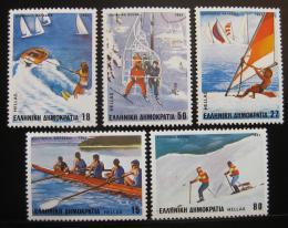 Poštovní známky Øecko 1983 Sporty Mi# 1515-19 - zvìtšit obrázek