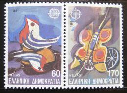Poštovní známky Øecko 1989 Dìtské hraèky, Evropa CEPT Mi# 1721-22 A