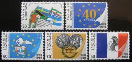 Poštovní známky Øecko 1989 Rùzná výroèí Mi# 1723-27 Kat 11€