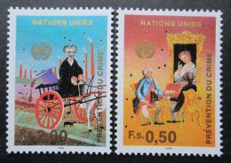 Poštovní známky OSN Ženeva 1990 Prevence kriminal. Mi# 190-91