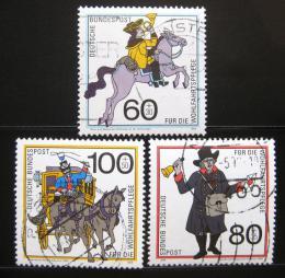 Poštovní známky Nìmecko 1989 Historie pošty Mi# 1437-39