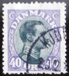 Poštovní známka Dánsko 1918 Král Christian X. Mi# 104 b