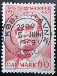 Poštovní známka Dánsko 1967 Hans Ch. Sonne Mi# 464