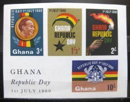 Poštovní známky Ghana 1960 Vyhlášení republiky Mi# Block 2