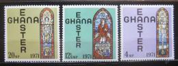 Poštovní známky Ghana 1971 Velikonoce, náboženské umìní Mi# 428-30