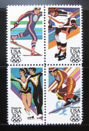 Poštovní známky USA 1984 ZOH Sarajevo Mi# 1671-74