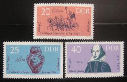 Poštovní známky DDR 1964 Výroèí Mi# 1009-11