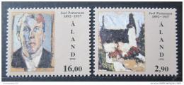 Poštovní známky Alandy 1992 Umìní, Pettersson Mi# 61-62