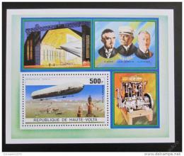 Poštovní známka Horní Volta 1976 Vzducholodì Mi# Block 42