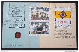 Poštovní známky Alandy 1993 Autonomní pošta Mi# Block 2