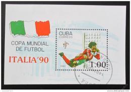 Poštovní známka Kuba 1990 MS ve fotbale Mi# Block 117