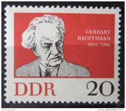 Poštovní známka DDR 1962 Gerhart Hauptmann Mi# 925