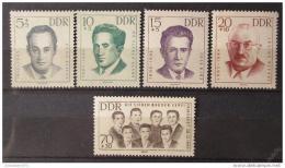 Poštovní známky DDR 1962 Osobnosti Mi# 918-22