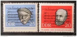 Poštovní známky DDR 1963 Internacionála Mi# 966-67
