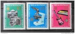 Poštovní známky DDR 1965 Veletrh v Lipsku Mi# 1130-32