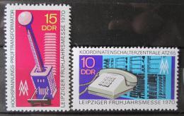 Poštovní známky DDR 1970 Veletrh v Lipsku Mi# 1551-52