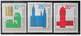 Poštovní známky DDR 1965 Chemnitz, Karl-Marx-Stadt Mi# 1117-19