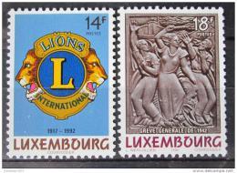 Poštovní známky Lucembursko 1992 Výroèí Mi# 1295-96