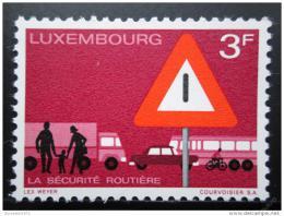 Poštovní známka Lucembursko 1970 Bezpeènost silnièního provozu Mi# 809
