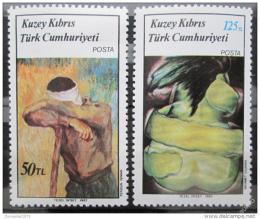 Poštovní známky Kypr Tur. 1987 Umìní Mi# 203-04
