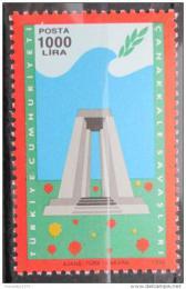 Poštovní známka Turecko 1990 Válka o Dardanely Mi# 2877