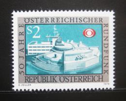 Poštovní známka Rakousko 1974 Radiostanice Mi# 1464 - zvětšit obrázek