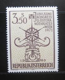 Poštovní známka Rakousko 1971 Kongres notáøù Mi# 1359