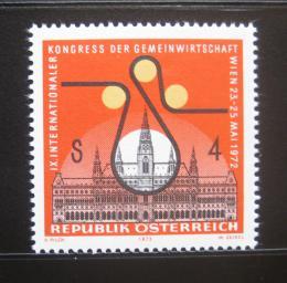 Poštovní známka Rakousko 1972 Ekonomický kongres Mi# 1388