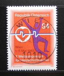 Poštovní známka Rakousko 1983 Sympózium kardiostimulátorù Mi# 1738