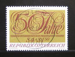 Poštovní známka Rakousko 1971 Filatelistická spoleènost Mi# 1380