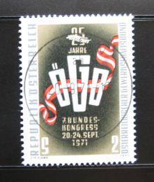 Poštovní známka Rakousko 1971 Výroèí odborù Mi# 1369