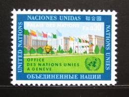 Poštovní známka OSN Ženeva 1969 Evropská kanceláø Mi# 4