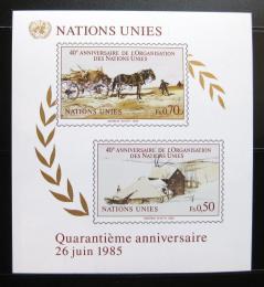Poštovní známky OSN Ženeva 1985 Výroèí založení Mi# Block 3