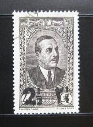 Poštovní známka Libanon 1938 Prezident Edde pøetisk Mi# 244 a