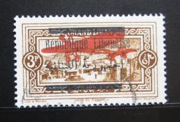 Poštovní známka Libanon 1928 Dvojtý pøetisk, RARITA SC# C22a Kat $65.00