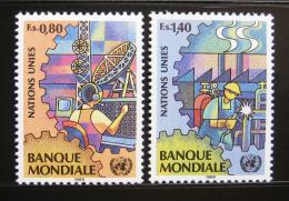 Poštovní známky OSN Ženeva 1989 Prùmysl a telekomunikace Mi# 173-74