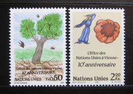 Poštovní známky OSN Ženeva 1989 Úøad ve Vídni Mi# 178-79