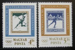 Poštovní známky Maïarsko 1985 OLYMPHILEX Mi# 3743-44