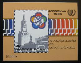 Poštovní známka Maïarsko 1985 Svìtový festival mládeže Mi# Block 178